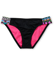 Hurley Girls Tribal Fusion Tab Side Bikini Bottom