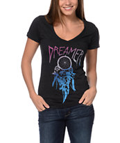 Empyre Girls Dreamer Charcoal V-Neck Tee Shirt