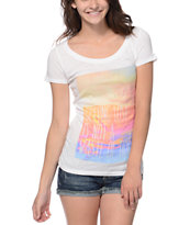 Empyre Girls Getting Lost White Scoop Neck Tee Shirt