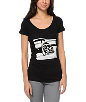 Diamond Supply Girls Brilliant Glass Black Tee Shirt
