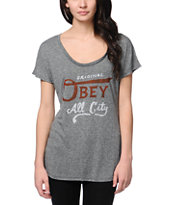 Obey Girls All City Original Mock Twist Tee Shirt
