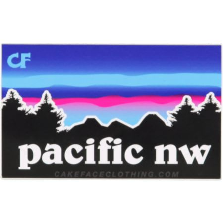 Cakeface PNW Sticker