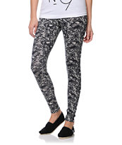 Empyre Girls Black & White Lace Print Leggings