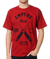 Empyre Switched Dark Red Tee Shirt
