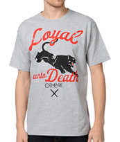 Empyre Loyal Unto Death Grey Tee Shirt