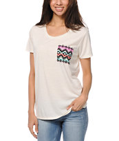 Empyre Girls Kessler Vanilla Ice Tribal Print Pocket Tee Shirt