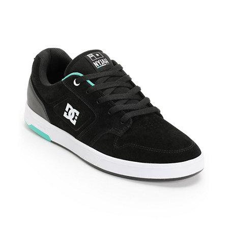 DC Nyjah Huston S Black & Mint Skate Shoe at Zumiez : PDP