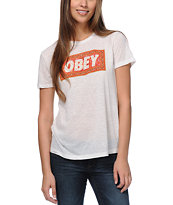 Obey Magic Carpet White Tee Shirt