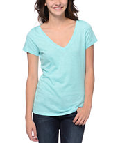 Zine Girls Aruba Blue Beta V-Neck Tee Shirt