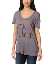 Obey OG Rose Gold Mauve Beau Tee Shirt