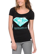 Diamond Supply Girls Creators Black Scoop Neck Tee