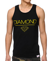 Diamond Supply White Space DMND Black Tank Top
