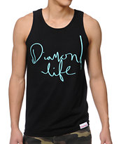 Diamond Supply Handwritten Black Tank Top