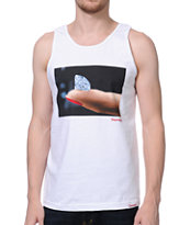 Diamond Supply Imprint White Tank Top