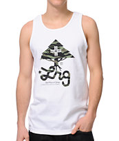 LRG Tiger Leaf Blammer White Tank Top