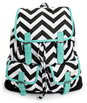 Empyre Girls Serene Chevron Stripe Rucksack Backpack
