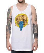 Crooks and Castles Bandusa White Tank Top