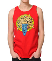 Crooks and Castles Bandusa Red Tank Top