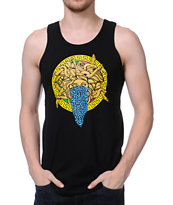 Crooks and Castles Bandusa Black Tank Top