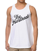 The Hundreds Forever Slant White Tank Top