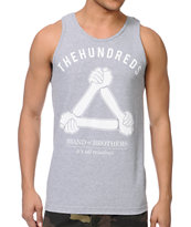 The Hundreds Band Of Brothers Grey Tank Top