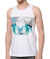 TMLS Poolside White Tank Top