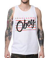 Obey Nine Nickel White Tank Top