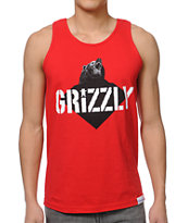 Diamond Supply x Grizzly Grip Tape Beast Red Tank Top