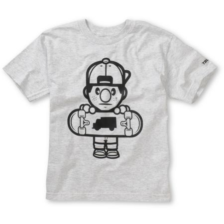 Trukfit Boys Lil Tommy Core Grey Tee Shirt