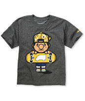 Trukfit Boys Lil Tommy Fill Charcoal Tee Shirt