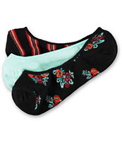 Empyre Girls 3-Pack Floradorable No Show Socks