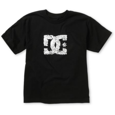 DC Boys Shattered Black Tee Shirt