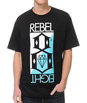REBEL8 Flip Black Tee Shirt