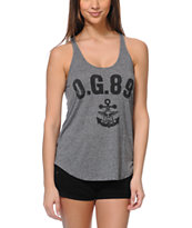 Obey Navy Black Mock Twist Racerback Tank Top