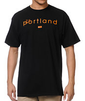 Casual Industries Portland Riders Black & Orange Tee Shirt