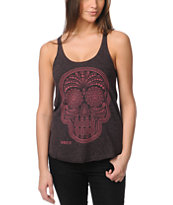 Obey Day Of The Dead Oxblood Red Racerback Tank Top