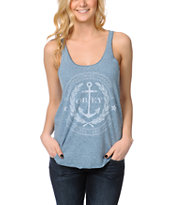 Obey Cruise Liner Heather Blue Racerback Tank Top