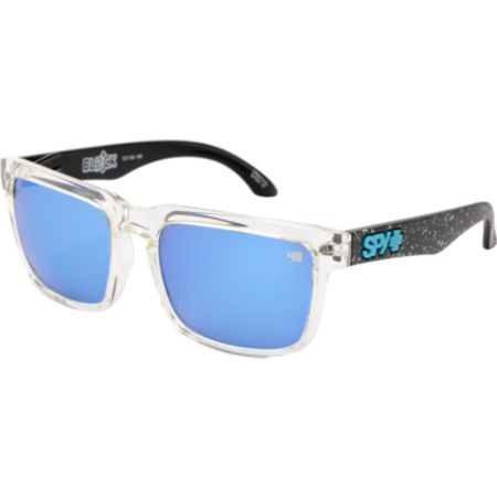 Spy Helm Ken Block Splatter Grey & Blue Spectra Sunglassess