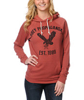 Obey Screaming Eagle Tour Heather Red Pullover Hoodie