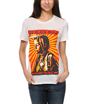 Obey Black Hills Ivory White Back Alley Tee Shirt