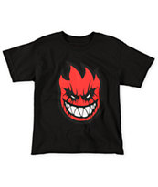 Spitfire Boys Deathmask Black & Red Tee Shirt