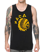 RVCA Chief Black & Gold Tank Top