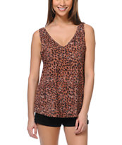 Cea+Jae Wild Child Cheetah Print Tank Top
