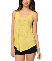 Obey Vintage OG Yellow Melody Tank Top