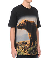 Diamond Supply x Grizzly Grip Tape Mountain Bear Black Tee Shirt