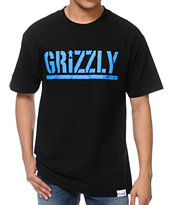 Diamond Supply x Grizzly Grip Tape T-Puds Grizzly Stamp Black Tee Shirt