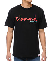 Diamond Supply OG Script Black Tee Shirt