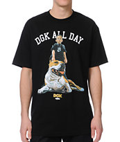 DGK Mans Best Friend Black Tee Shirt