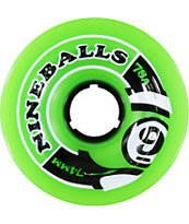 Sector 9 Nineball 74mm Green Skateboard Wheels