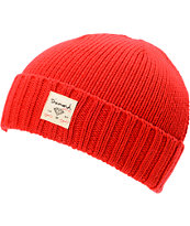 Diamond Supply City Cuff Red Beanie